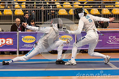Fencing Cup Torino 2013 Editorial Photo