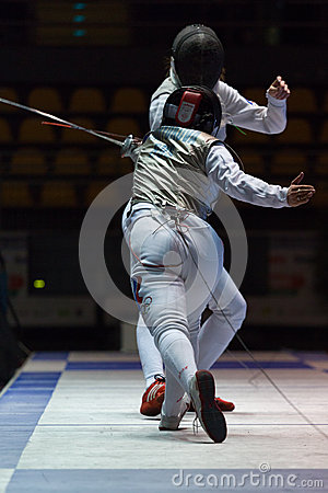 Fencing Cup Torino 2013 Editorial Stock Image