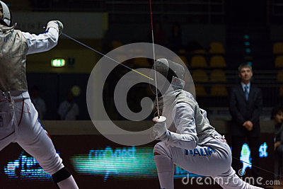 Fencing Cup Torino 2013 Editorial Stock Photo