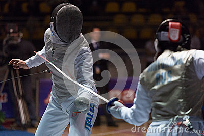 Fencing Cup Torino 2013 Editorial Image