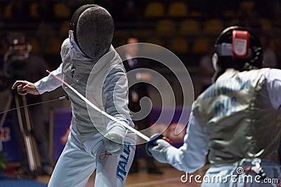 Fencing Cup Torino 2013 Editorial Image