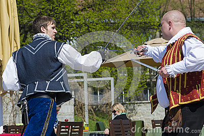 Fencing performance Tallinn Editorial Stock Image
