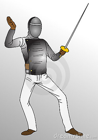 Fencing  player