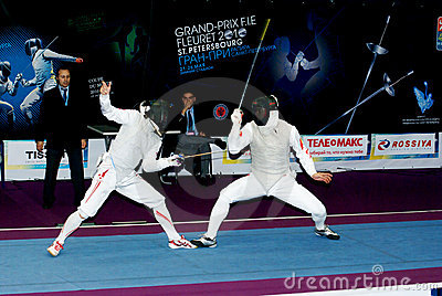 Fencing world cup 2010 Editorial Image