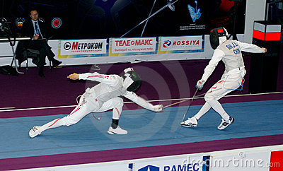 Fencing. World cup 2010. Editorial Stock Photo