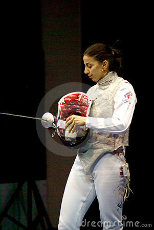 Fencing. World cup 2010. Aida Shanaeva Editorial Stock Image