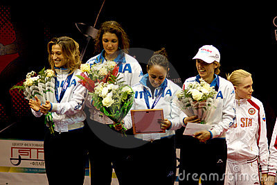 Fencing. World cup 2010. Italy team Editorial Stock Image