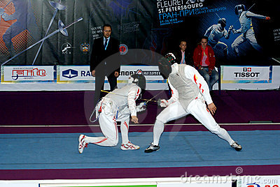 Fencing. World cup 2010. Saint-Petrsburg Editorial Image