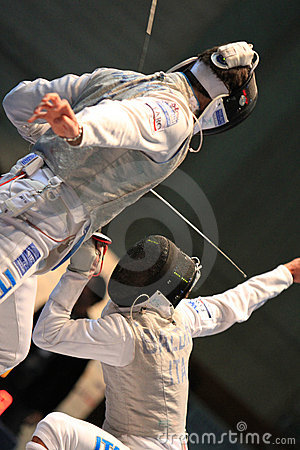 FENCING WORLD CUP: Foil Venice s Trophy - BALDINI Editorial Stock Photo
