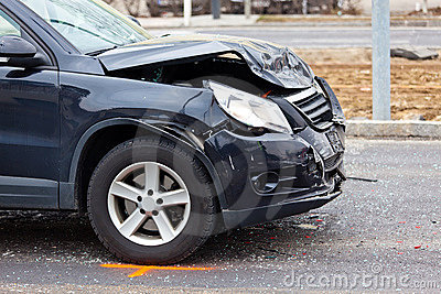 Fender-bender in car crash
