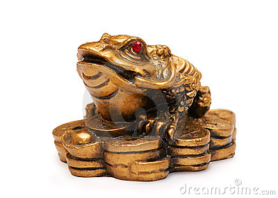 Feng shui frog, a symbol of China
