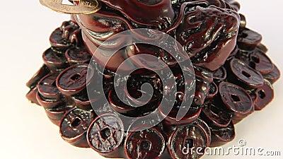 Feng Shui. Ricchezze di simbolizzazione e prosperità della rana stock footage
