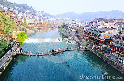 Fenghuang ancient town Editorial Stock Photo