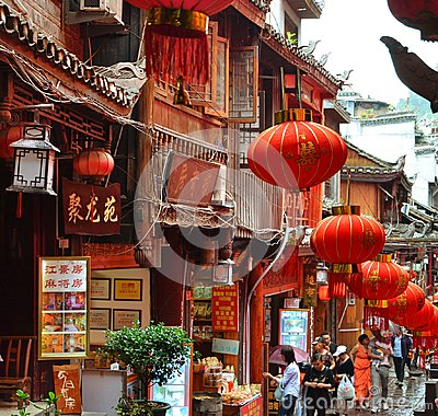 Free Fenghuang, China - May 15, 2017: People Walking Around Street In The Phoenix Fenghuang City Stock Photos - 106788613