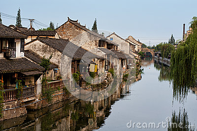 Fengjing Town Stock Photo