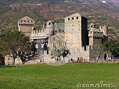 Fenis Castle, Aosta, Italy