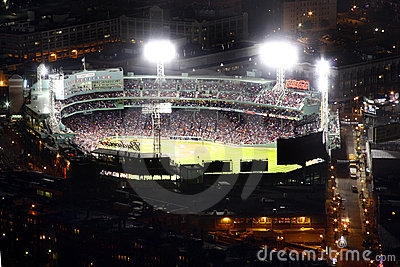 Fenway Park full view at night Editorial Stock Image