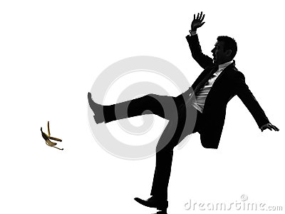 Feralna beztroska biznesowego mężczyzna sylwetka
