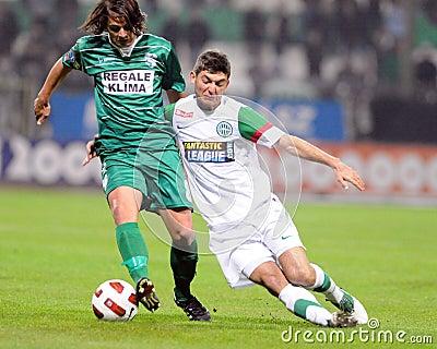 Ferencvaros-Kaposvar soccer game Editorial Image