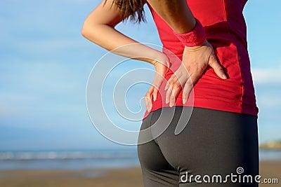 Ferimento da dor nas costas do corredor mais baixo