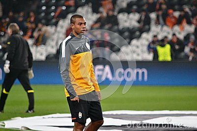 Fernandinho before the match of the Champions League Editorial Image