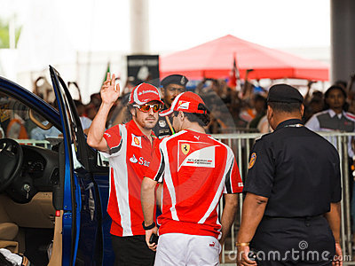 Fernando Alonso and Felipe Massa Editorial Image