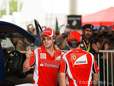 Fernando Alonso and Felipe Massa, team Scuderia Fe Editorial Photo