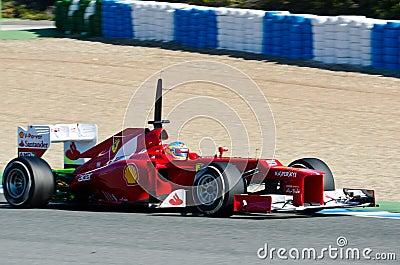 Fernando Alonso of Ferrari team Editorial Stock Image