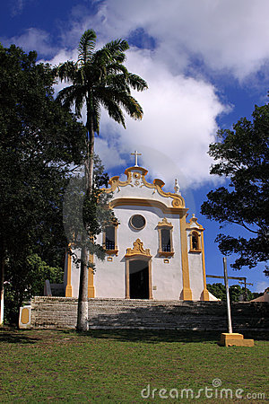 Fernando de Noronha colonial church - vertical