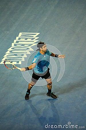 Fernando Gonzalez at the Australian Open 2010 Editorial Photo