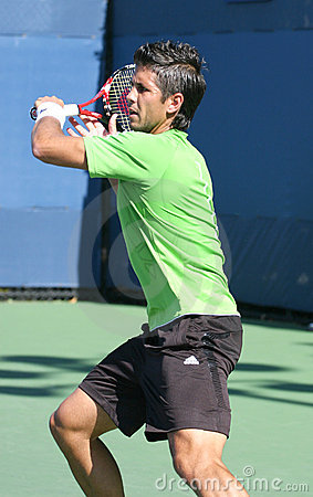 Fernando Verdasco, Tennis Forehand at US Open Editorial Stock Image