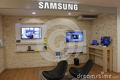 Fernsehapparate Samsung-Smart Redaktionelles Stockfoto
