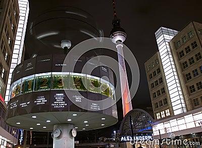 Fernsehturm alexanderplatz clock