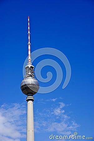 The Fernsehturm teleivison tower, Berlin Germany