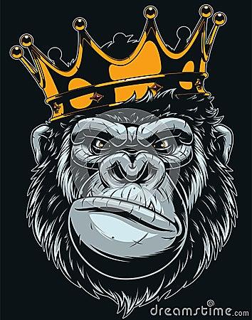 Free Ferocious Gorilla Head Royalty Free Stock Photo - 128022825