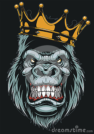 Free Ferocious Gorilla Head Royalty Free Stock Photos - 95493978