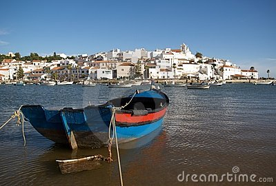 Ferragudo with fishing boat