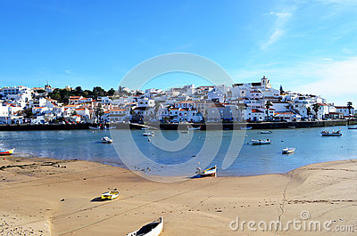 Ferragudo fishing village in the algarve