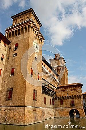 Ferrara castle in Italy