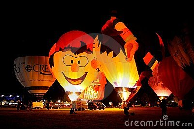 Ferrara Hot Air Balloons Festival 2008 Editorial Photo