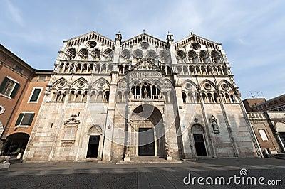 Ferrara (Italy) - The cathedral facade
