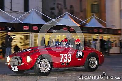 Ferrari 166MM/195S at 1000 Miglia 2010 Editorial Photo