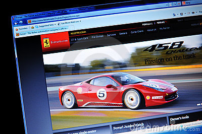 Ferrari Editorial Stock Image