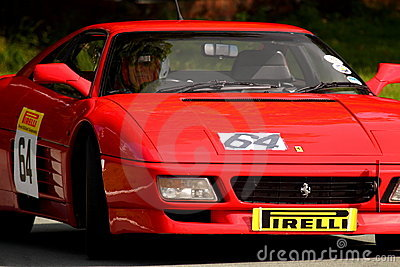 Ferrari 348 TS at hill climb event Editorial Stock Image