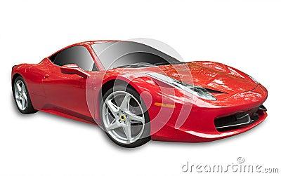 Ferrari 358 en el blanco, aislado Imagen de archivo editorial