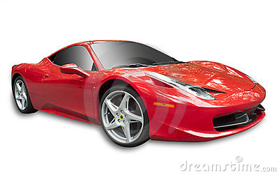 Ferrari 358 op geïsoleerdk wit, Redactionele Stock Afbeelding