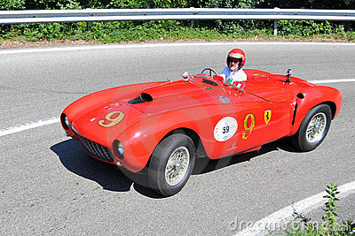 Ferrari 375 1953 -Vernasca Silver Flag 2011 Editorial Photo