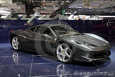 Ferrari 458 Italia - 2010 Geneva Motor Show Editorial Photography