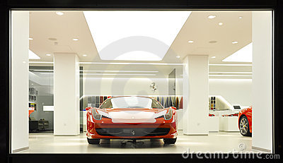 A Ferrari 458 Italia in a showroom Editorial Stock Photo