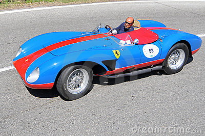 Ferrari 500 TRC 1957 -Vernasca Silver Flag 2011 Editorial Stock Photo